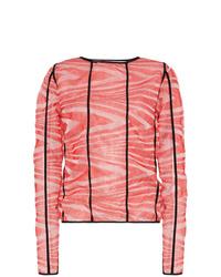 Blusa de manga larga efecto teñido anudado roja de Asai