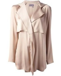 Blusa de manga larga en beige