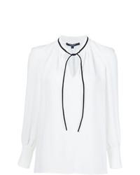 Blusa de manga larga en blanco y negro de Derek Lam