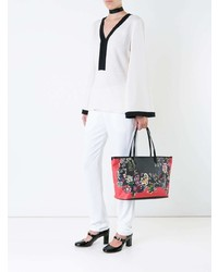 Blusa de manga larga en blanco y negro de Etro