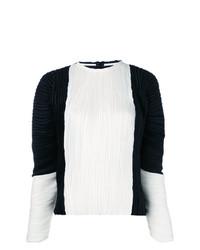 Blusa de manga larga en blanco y negro de Haider Ackermann