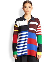 Blusa de manga larga en multicolor
