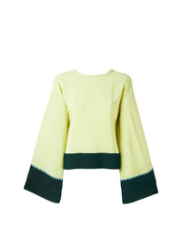 Blusa de manga larga en verde menta de Etro