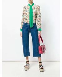 Blusa de manga larga estampada en multicolor de RED Valentino