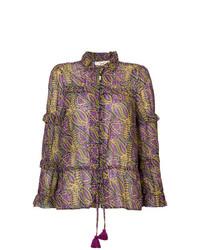 Blusa de manga larga estampada morado de Figue
