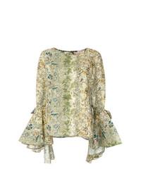 Blusa de manga larga estampada verde oliva de Black Coral