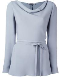 Blusa de manga larga gris de Valentino