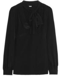 Blusa de manga larga negra