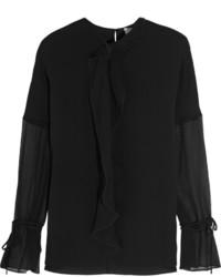 Blusa de manga larga negra de 3.1 Phillip Lim