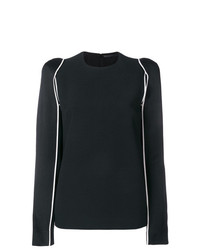 Blusa de manga larga negra de Haider Ackermann