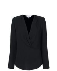 Blusa de manga larga negra de IRO