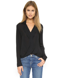 Blusa de manga larga negra de L'Agence