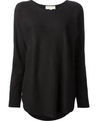 Blusa de manga larga negra de MICHAEL Michael Kors