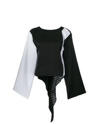 Blusa de manga larga negra de MM6 MAISON MARGIELA