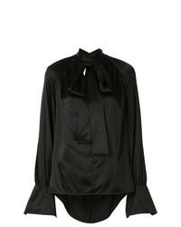 Blusa de manga larga negra de Petar Petrov