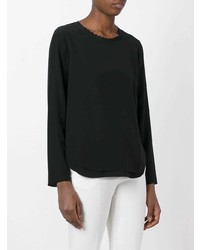 Blusa de manga larga negra de Chloé