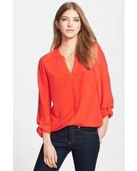 Blusa de manga larga roja