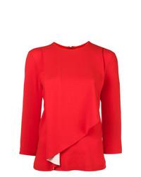 Blusa de manga larga roja de Maison Margiela