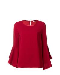 Blusa de manga larga roja de P.A.R.O.S.H.