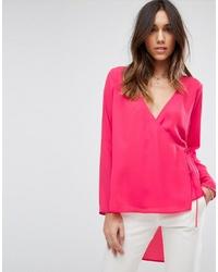 Blusa de manga larga rosa de ASOS DESIGN