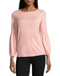 Blusa de manga larga rosada