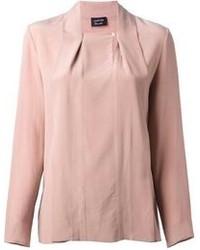 Blusa de manga larga rosada de Lanvin