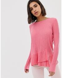 Blusa de manga larga rosada de Pieces