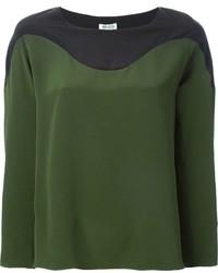 Blusa de manga larga verde oliva de Kenzo