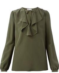 Blusa de manga larga verde oliva de RED Valentino