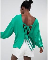 Blusa de manga larga verde de ASOS DESIGN