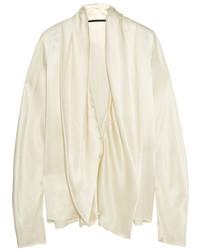 Blusa de satén blanca de Haider Ackermann
