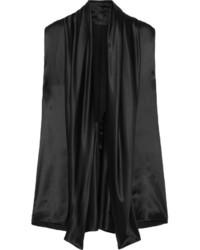 Blusa de satén negra de Haider Ackermann