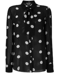 Blusa de seda a lunares negra de Moschino