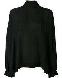 Blusa de seda negra de Balenciaga