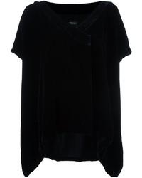 Blusa de seda negra de Marcelo Burlon County of Milan