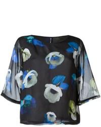 Blusa de seda negra de Mini Market