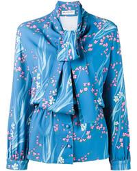 Blusa estampada azul de Balenciaga