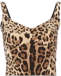 Blusa estampada marrón claro de Dolce & Gabbana