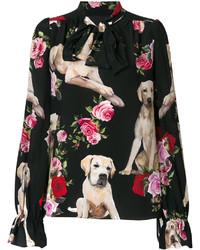 Blusa estampada negra de Dolce & Gabbana