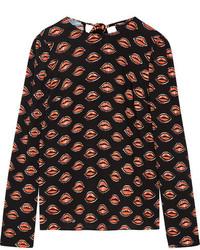Blusa estampada negra de Prada