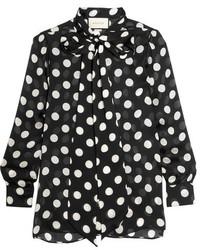 Blusa negra de Gucci