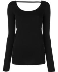 Blusa Negra de Helmut Lang