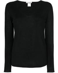 Blusa negra de Le Tricot Perugia