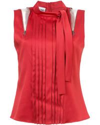 Blusa plisada roja de Moschino