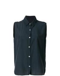 Blusa sin mangas azul marino de Elsa Esturgie