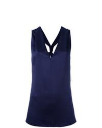 Blusa sin mangas azul marino de Lanvin