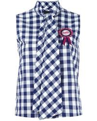Blusa sin mangas azul marino de Love Moschino