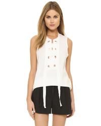 Blusa sin mangas blanca de 3.1 Phillip Lim