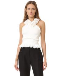 Blusa sin mangas blanca de Antonio Berardi