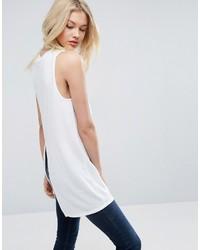 Blusa sin mangas blanca de Asos